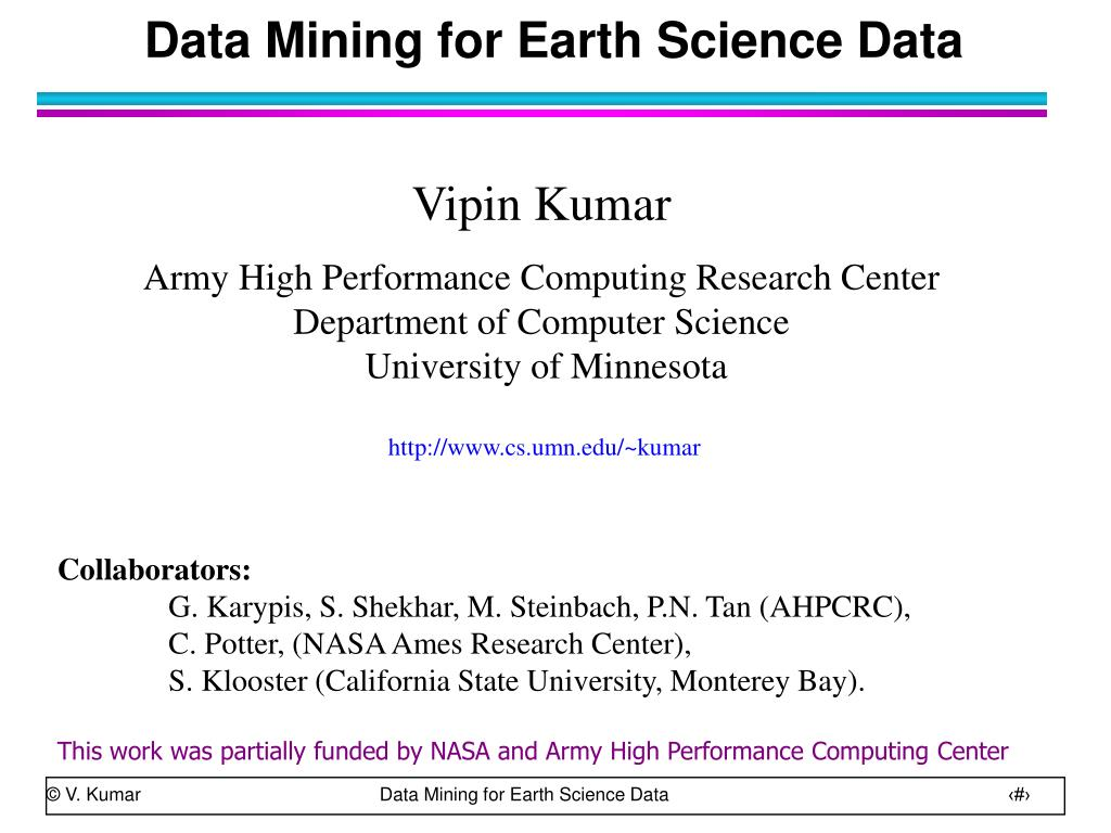 data mining for earth science data l.