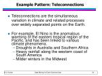 example pattern teleconnections
