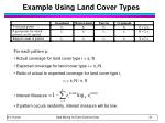 example using land cover types