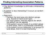 finding interesting association patterns