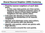 shared nearest neighbor snn clustering