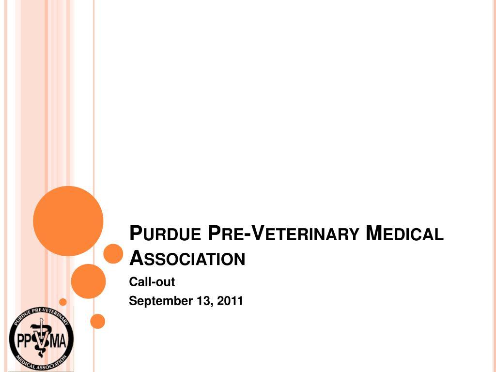 purdue pre veterinary medical association l.