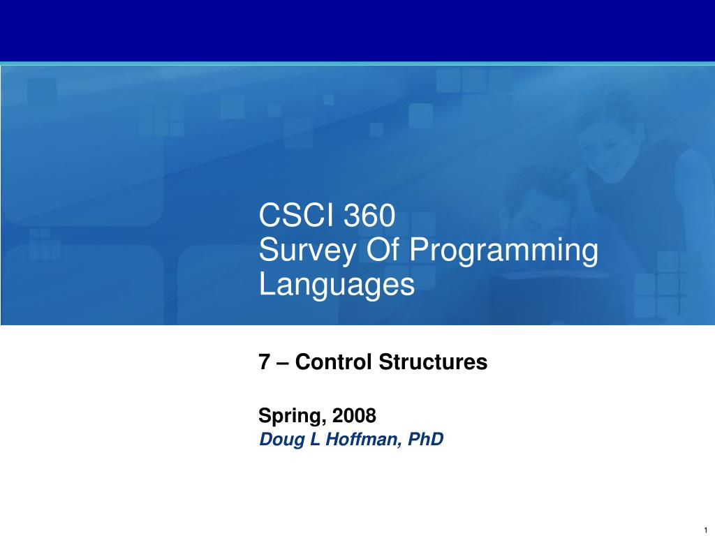 csci 360 survey of programming languages l.