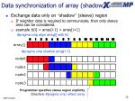 data synchronization of array shadow