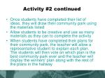 activity 2 continued