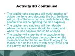 activity 3 continued