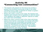 activity 4 connecting two communities
