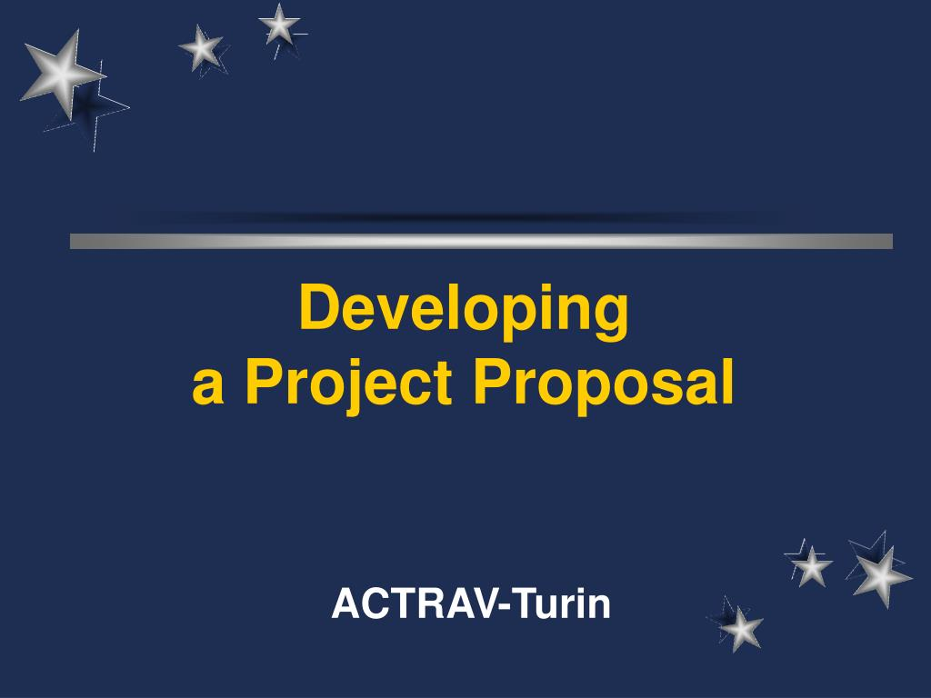 developing a project proposal l.