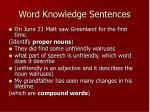 word knowledge sentences9