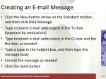 creating an e mail message