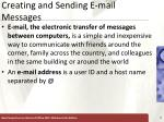 creating and sending e mail messages