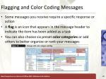 flagging and color coding messages