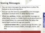 storing messages