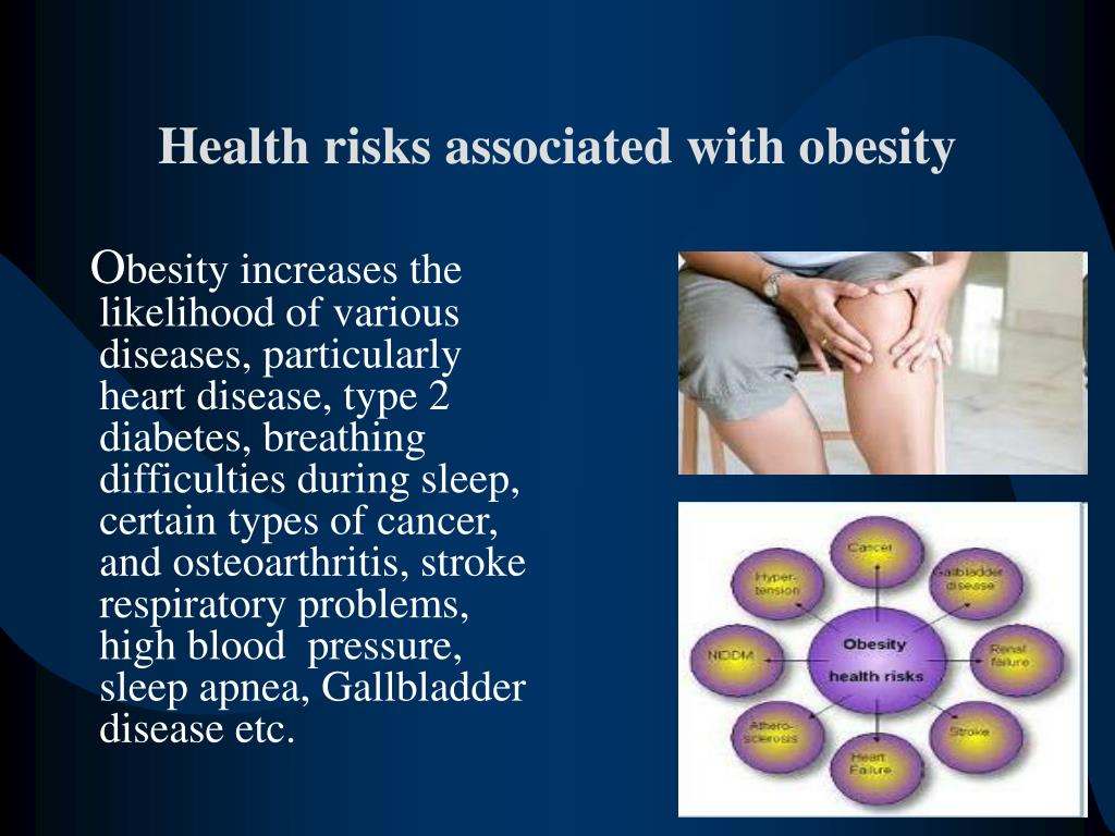health risks of obesity What is known about the relationship between obesity and cancer how might obesity results from the national health and have lower risks of obesity-related.