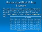 randomized block f test example