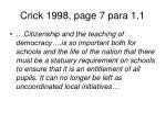 crick 1998 page 7 para 1 1