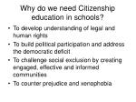 why do we need citizenship education in schools