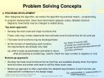 problem solving concepts22