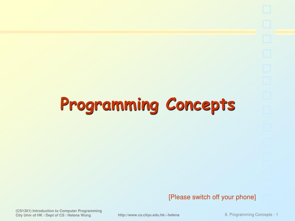 programming concepts l.