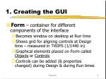 1 creating the gui