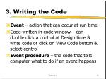 3 writing the code