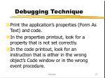 debugging technique
