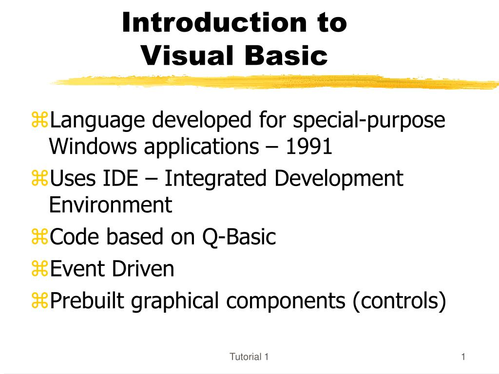 introduction to visual basic l.