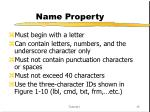 name property
