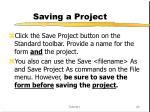 saving a project