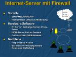 internet server mit firewall