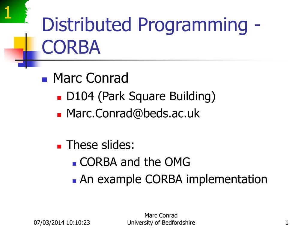 distributed programming corba l.