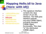 mapping hello idl to java here with idlj25