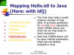 mapping hello idl to java here with idlj28