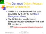 the common object request broker architecture7