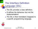 the interface definition language idl