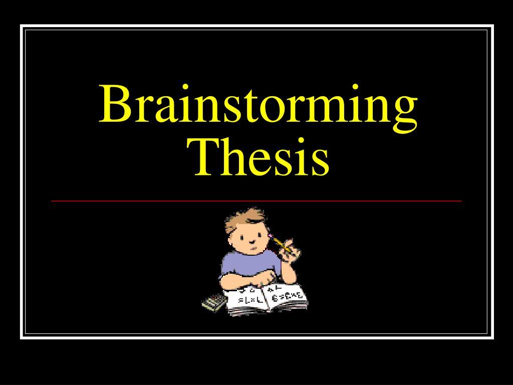 brainstorming thesis l.