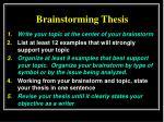 brainstorming thesis4
