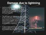 damage due to lightning