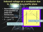 induced voltage on a conductor due to lightning to a nearby place