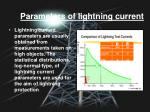 parameters of lightning current
