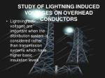 study of lightning induced voltages on overhead conductors
