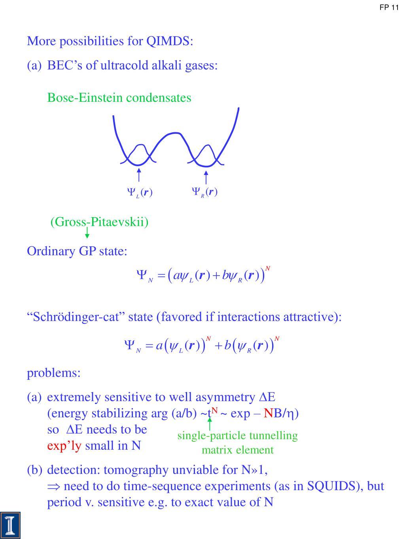 single-particle tunnelling matrix element