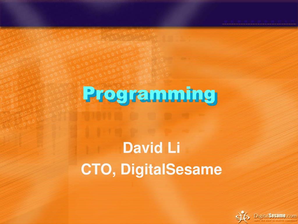 programming l.