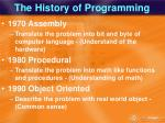the history of programming