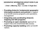 geographic information group work plan 2004 2006 chair j manning aus co chair s vogts ger