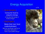energy acquisition