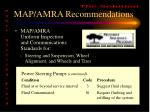 map amra recommendations