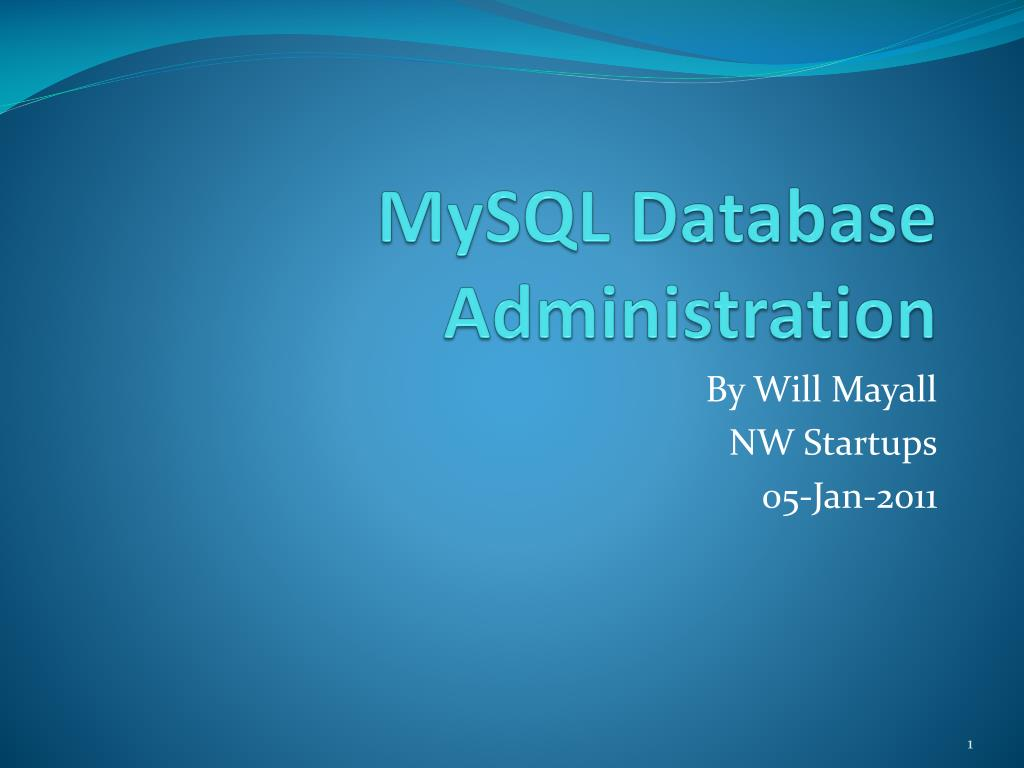 mysql database administration l.