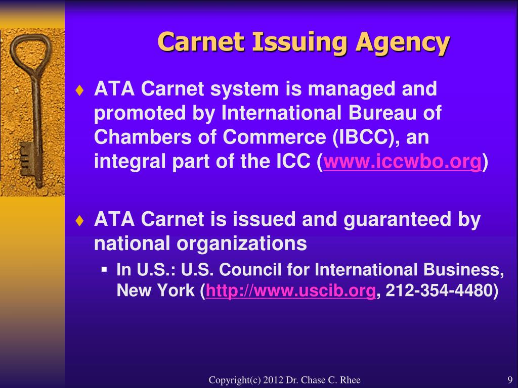 Carnet Issuing Agency