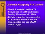 countries accepting ata carnets